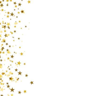 Nieuwjaarskaart vierkant met sterren en foto 2