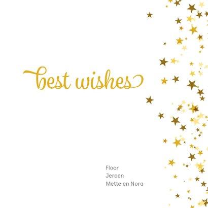 Nieuwjaarskaart vierkant met sterren en foto 3