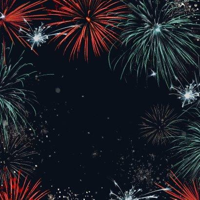 Nieuwjaarskaart vuurwerk stijlvol zakelijk warm wishes Achterkant