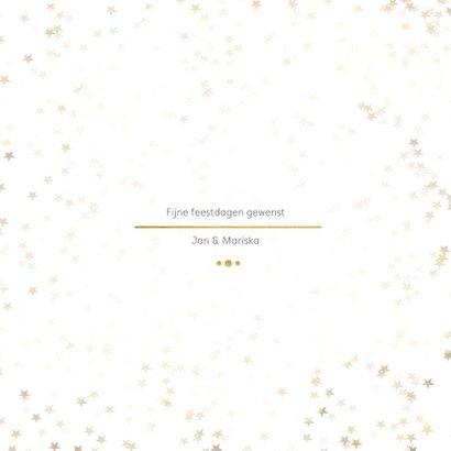 Nieuwjaarskaart wit en goud 3