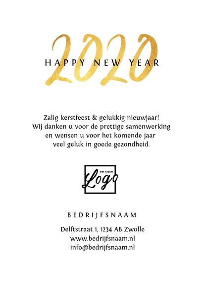 Nieuwjaarskaart zakelijk 2020 goud foto sterretjes 3