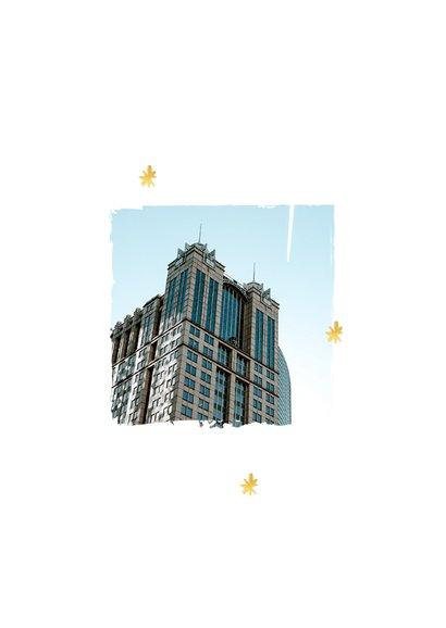 Nieuwjaarskaart zakelijk 2021 goud foto sterretjes 2