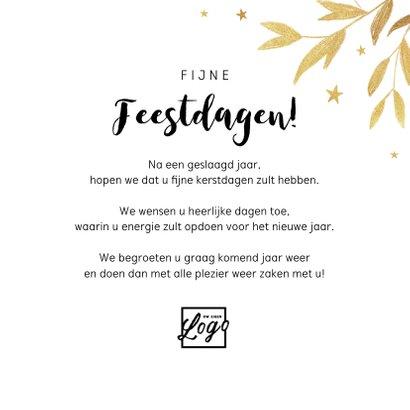 Nieuwjaarskaart zakelijk 2022 champagne proost goud 3