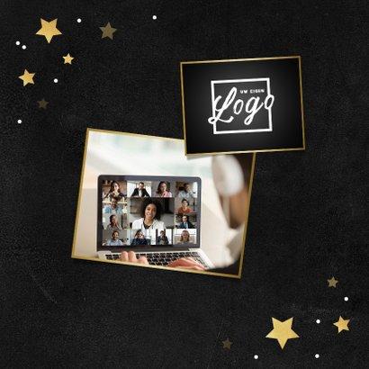 Nieuwjaarskaart zakelijk healthy gezond corona sterren goud 2