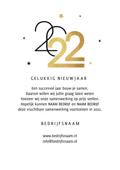 Nieuwjaarskaart zakelijk sterren 2022 grafisch modern 3