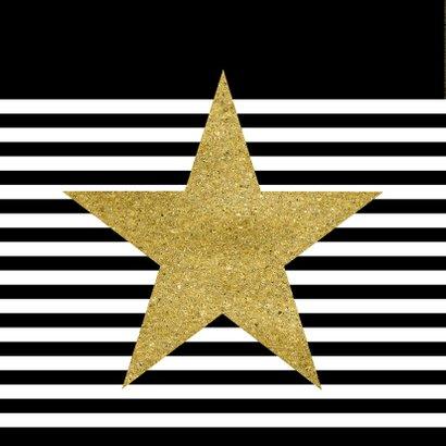 Nieuwjaarskaart zwart wit goud 2