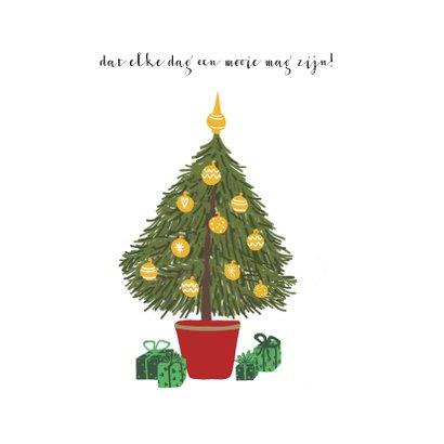 Nieuwsjaarskaart Fiets met Kerstboom 2
