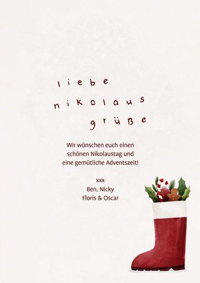 Nikolauskarte mit Nikolausstiefel 3