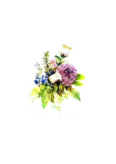 Oeps, te laat kaart met bos bloemen 2