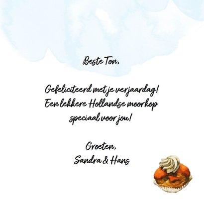 Oergezellige verjaardagskaart met oranje Hollandse moorkop 3