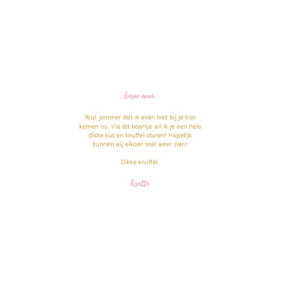 Oma kaartje met waterverf hart en gouden tekst 3