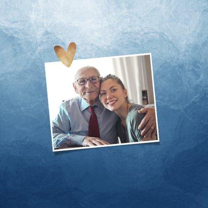 Opa en of oma kaart dikke knuffel stijlvol blauw hartjes 2