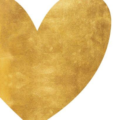 Opa en oma kaart gouden hart met foto 2