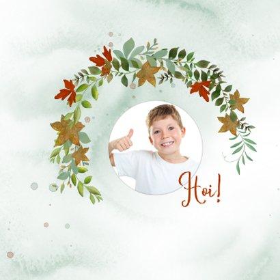 Opa-en omakaart met herfstkrans 2