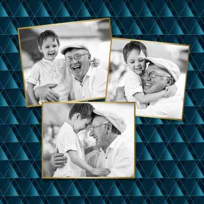 Opa-Grußkarte mit Herzen eigenen Fotos 2