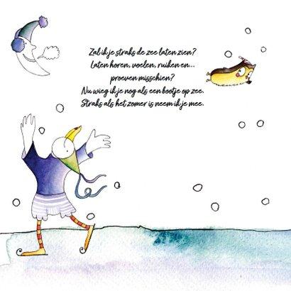 origineel geboortekaartje zee winter 2