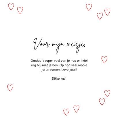 Originele kaart met hartenvrouw en kleine hartjes 3