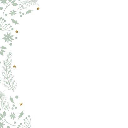 Originele kerstkaart donker groen Merry goud 2