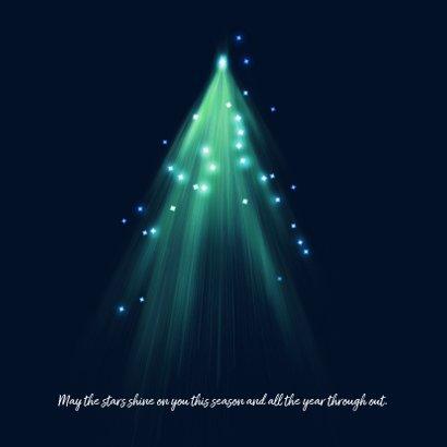 Originele kerstkaart met kerstbomen en lichtjes 2