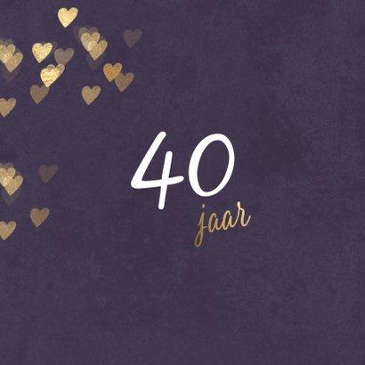 Originele uitnodiging huwelijk jubileum 40 jaar 2