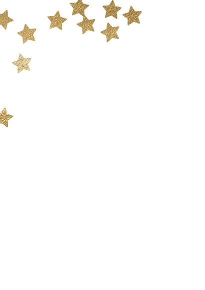 Originele uitnodiging kerstdiner sterren confetti 2