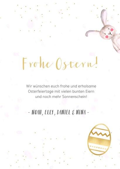 Ostergrußkarte Frohe Ostern mit eigenen Fotos 3