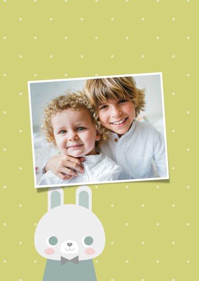 Osterkarte Frohe Ostern mit Osterhase 2