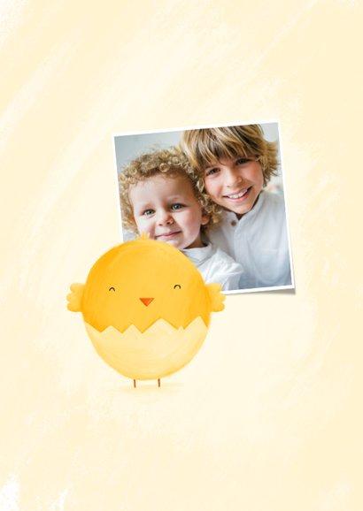 Osterkarte Küken im Ei Foto innen 2