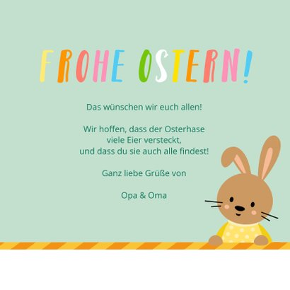Osterkarte süße Osterhasen 3