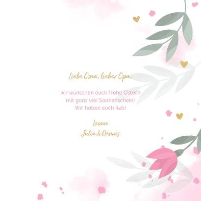 Osterkarte Tulpen & Wasserfarbe 3