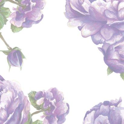Paarse Bloemen Met Quote 2