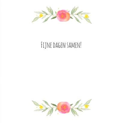 Paaskaart bloemenkrans 3