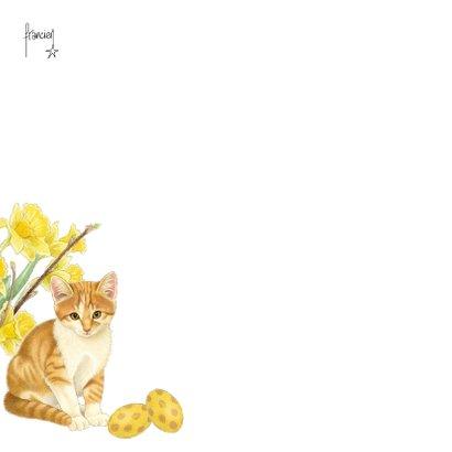 Paaskaart Kittens in het eiermandje 2