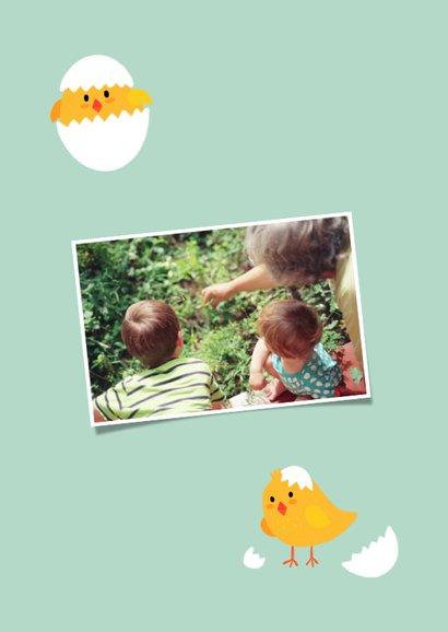Paaskaart met eigen foto's als kuikentjes 2