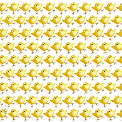 Paaskaart - Tweehonderdvijftig paaskuikentjes 2