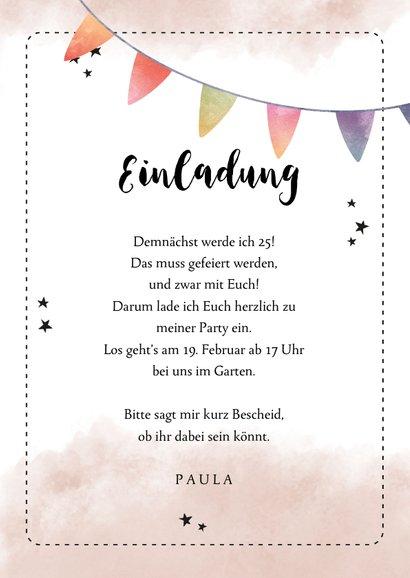 Partyeinladung Foto & Spruch Kaum in Torte zu fassen 3