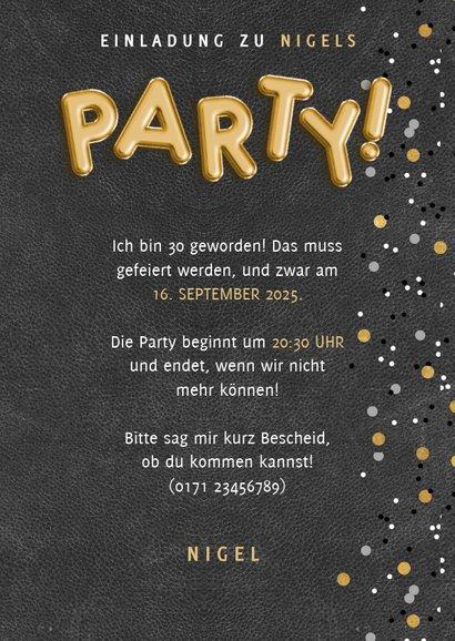 Partyeinladung Fotocollage Mann 3