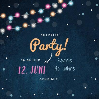 Partyeinladung Surpriseparty mit Foto 2