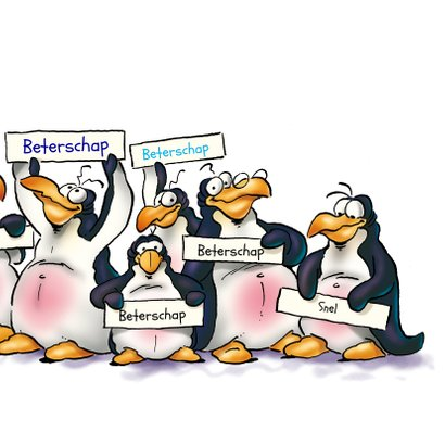 Penguins beterschap 3 dieren op ijsschots 3