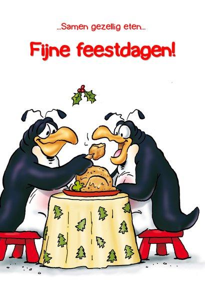 Penguins kerstkaart etentje 3