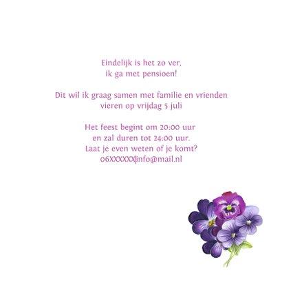 Pensioen feest viooltjes 3