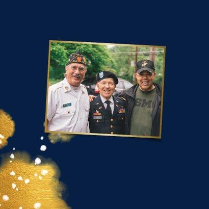 Pensioenkaart met foto en gouden waterverf 2