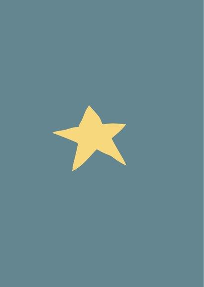 Petrol blauwe kaart met quote over vriendschap en sterren. 2