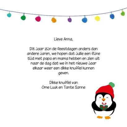 Pinguïn gezellige feestdagen - christmas cuties - kerstkaart 3