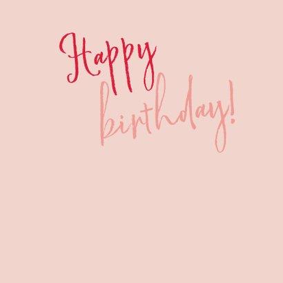 Pink cocktail verjaardagskaart 3