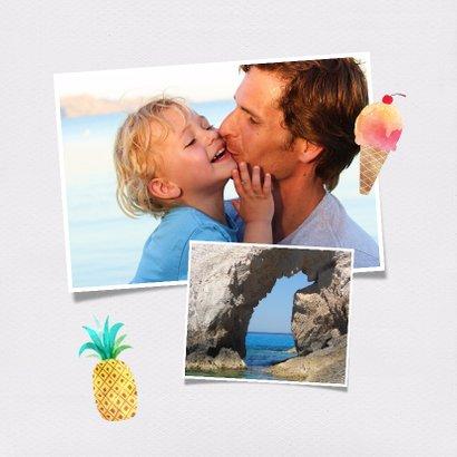 Polaroid kaart eigen foto vakantie 2