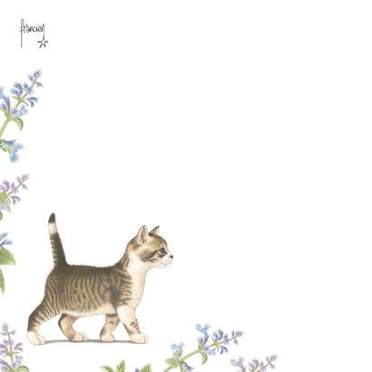 Pssst jarige bloemen en kitten 2
