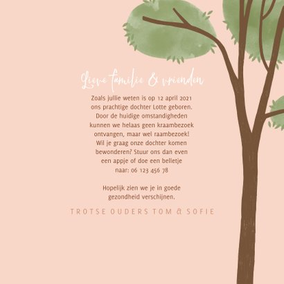 Raamvisite uitnodiging meisje illustratie doorkijkje 3