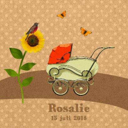 Retro kinderwagen oranje 2