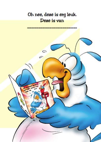 Rocco verjaardag papegaai met kaart 3